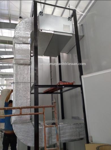 Thi công điều hòa âm trần nối ống gió Daikin giá rẻ cho công trình nhà xưởng tại maylanhtrieuan.com